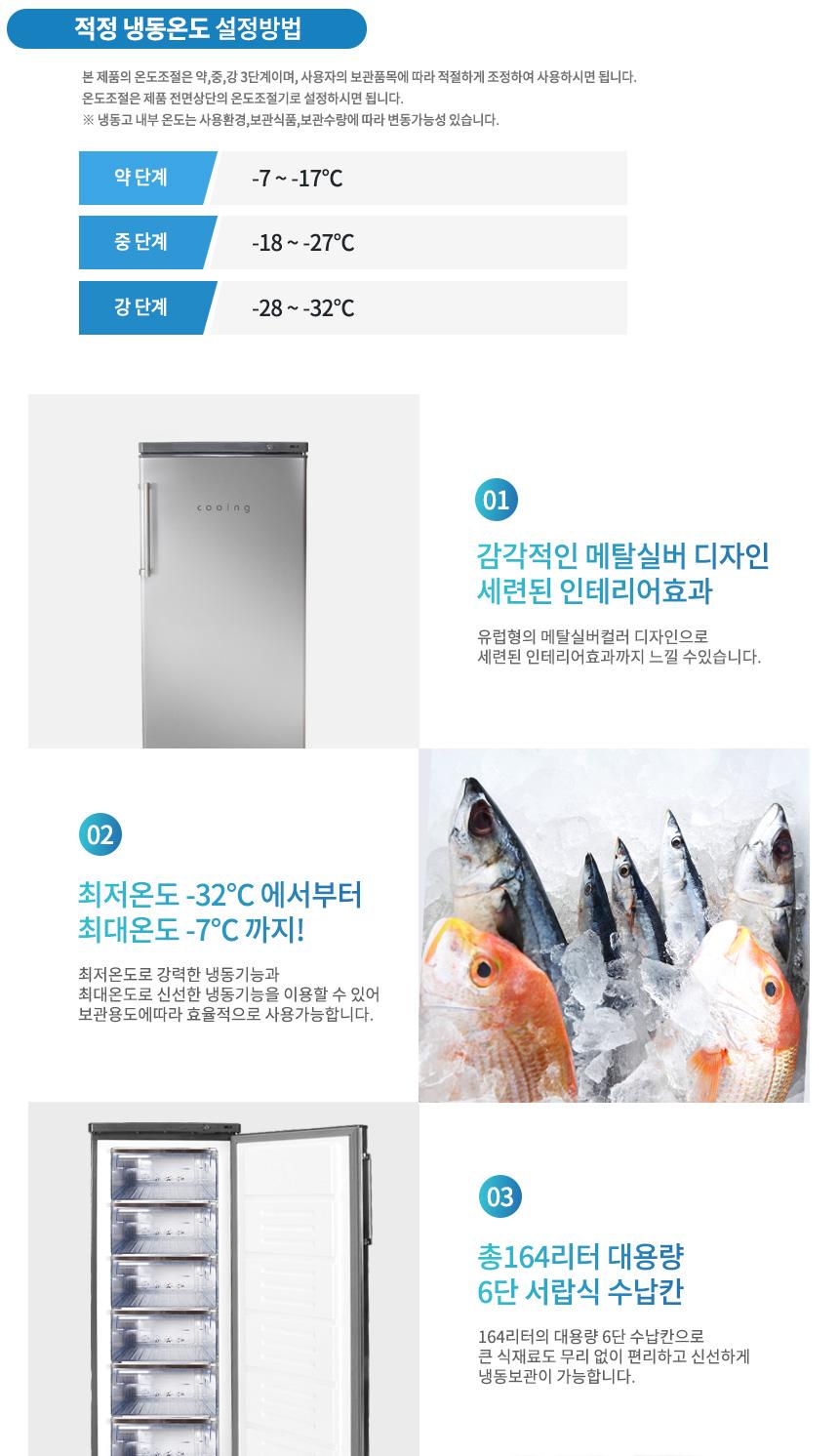 상세페이지4, 적정 냉동온도 설정방법